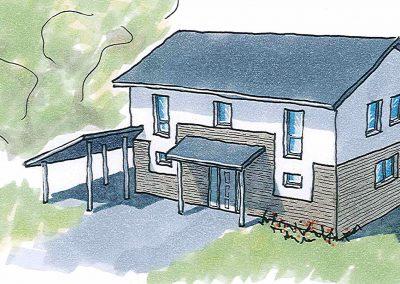 Projekt III – Freistehendes Einfamilienhaus