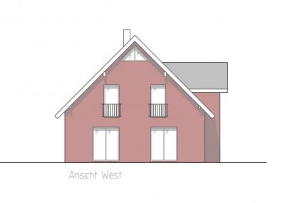 Projekt IV Ansicht West
