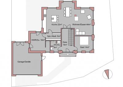 Projekt VI Erdgeschoss