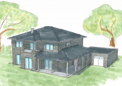 Projekt VI – Freistehendes Einfamilienhaus