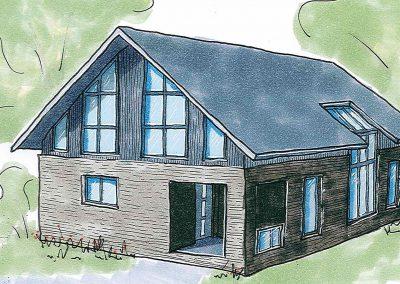 Projekt II – Freistehendes Einfamilienhaus mit Einliegerwohnung