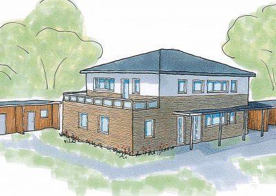 Projekt V – Zweifamilienhaus